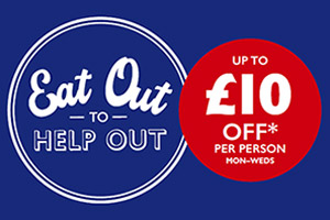 We're Part of Eat Out to Help Out Throughout August